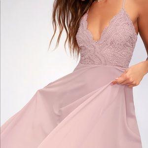 414f6ccc7b2 Lulu s Dresses - MADALYN DUSTY LAVENDER LACE MAXI DRESS